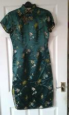 Womens Short Sleeve Dress - Peony Brand - Shanghai China - Chinese - 36 - Green