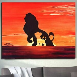 Abstract Lion King Canvas Wall Art Pictures Poster Painting Poster and Prints