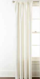"""JCPenney Home Westfield Rod Pocket 1 Curtain panel Whisper White 50"""" X 84""""L"""