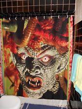 Medusa Halloween Mask Clash Titans Gorgon shower curtain Harryhausen Horror