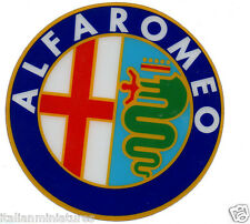 Alfa Romeo Plastic Self Adhesive Badge High Shine 90mm Diameter 147 156 166 GTV