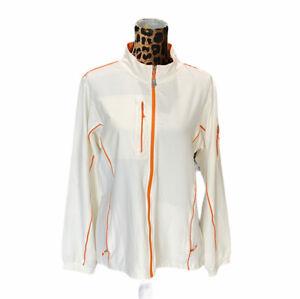 Peter Millar Element 4 Wind Full Zip Windbreaker Jacket Womens XL