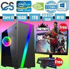 Cit Seven Gaming Computer Pc Bundle Intel Core I5 16gb 1tb Gtx 1660 19'' Led