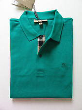 """NWT Burberry """"Oxford"""" Check Placket Polo (Vibrant Teal; Size S) US$175"""
