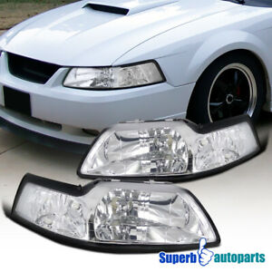 For 1999-2004 Ford Mustang Headlights Head Lamps Pair Left+Right