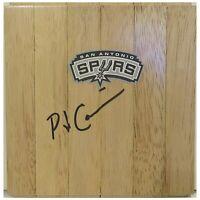 PJ Carlesimo San Antonio Spurs Autograph Signed Basketball Floor Board Proof COA