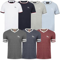 Mens T Shirt Tokyo Laundry V Neck Short Sleeved Top Sports Fashion Summer New