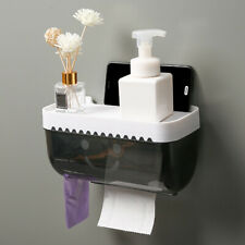 Bathroom Wall Mounted Toilet Paper Roll Holder Tissue Box Cover Dispenser
