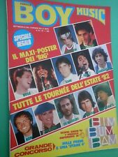 BOY MUSIC N 29 Raro Lugl. 1982 con MAXI poster Big musica Estate 1982