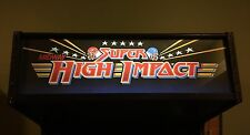 Super High Impact Football NFL Arcade Marquee Midway Williams Translight Header