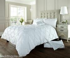 Luxury Vintage Bedding Range of Embroidered Duvet Quilt Cover Bed Set & Cushion Alford White Double