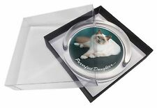 Birman Cat 'Purrrfect Daughter' Glass Paperweight in Gift Box Christmas, PD-85PW