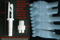 Vertical Blind Parts  (Qty 5) Vertical Track Carriers Parts - Blind Parts V37