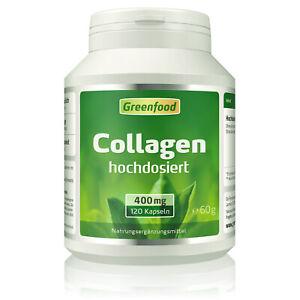Greenfood Collagen, 400mg, hochdosiert, 120 Kapseln