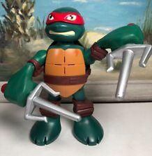 """Teenage Mutant Ninja Turtle Action Figure Raphael Viacom Moving Arms Noise 6"""""""