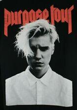 Justin Bieber Purpose Concert Shirt Adult Medium Black Red Long Sleeve Tour Mens