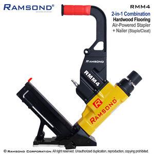 Ramsond RMM4 2-in-1 Pneumatic Hardwood Wood Floor Flooring Cleat Nailer Stapler