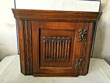 Vintage Old Charm Wood Bros Wall Hanging Corner Cupboard
