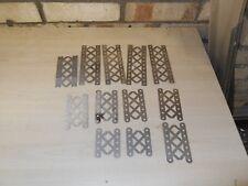 Meccano níquel triangulada vigas Tamaños Surtidos 12 piezas