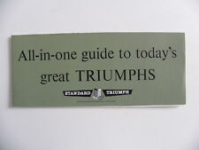 Petite brochure TRIUMPH STANDARD All - in - one guide to today's de 1964
