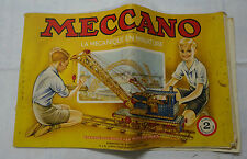 Meccano n° 2 manuel d'instruction 1954