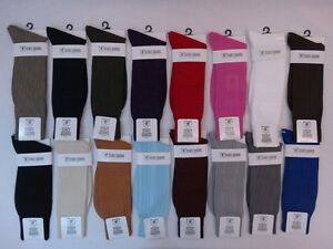 Men's Dress Socks Stacy Adams Solid Plain 21 Colors Size 6-12