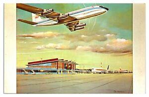 New Air Terminal Building Illustration, Cranston, RI Postcard *6T15