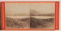 Lago Di Guéry Monte Dore Francia Stereo Vintage Albumina Ca 1870