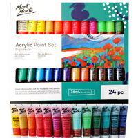 Acrylic Paint Set 24 x 36ml Mont Marte Studio Artist Student Painting Bright