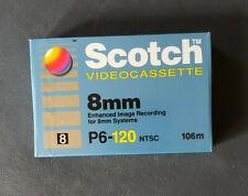 Scotch Video Cassette 8mm P6-120 NTSC 106m New