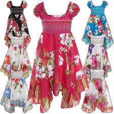 Markenlose Mädchenkleider mit Weihnachts-Muster aus 100% Baumwolle