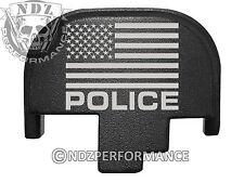 For Smith Wesson S&W M&P 9 40 45 Rear Slide Back Plate Blk Us Flag Police