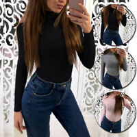 Womens Long Sleeve Thermal Top Warm High Neck Ladies Stretch Winter Warmer Wear