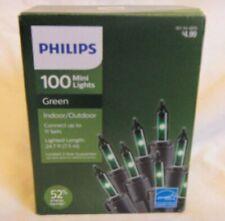 4 BOXES OF PHILIPS 100 MINI LIGHTS INDOOR/OUTDOOR   2 RED - 2 GREEN