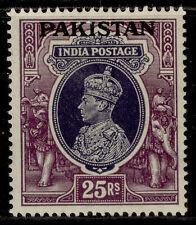 More details for pakistan gvi sg19, 25r slate-violet & purple, m mint. cat £95.