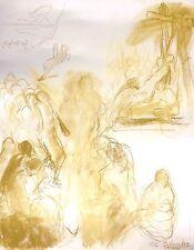 EXQUISITE RARE PAINTING SHELDON C SCHONEBERG SIGNED ORIGINAL PASTEL DRAWING ART