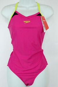 Speedo Splice Thinstrap Racerback AF Womens Swimsuit UK Size 16