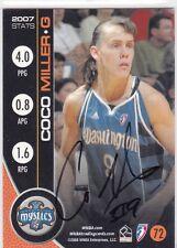 Autographed Coco Miller 2008 WNBA Basketball Card Washington Mystics 72