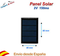 Panel Solar 2V 150mA 60x40 Placa Solar Celula Fotovoltaica Cargador