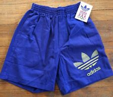 Vintage Adidas 80s Shorts USA Olympics Men's Small NWT Never Worn Blue Trefoil