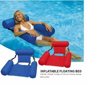 Swimming Pool Floating Foldable Bed Float Chair Inflatable Beach Raft Water Toy