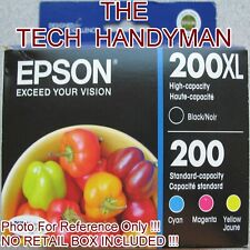 4-PACK EPSON GENUINE 200XL BLACK & 200 COLOR INK (NO RETAIL BOX) WORKFORCE 2540