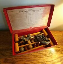 ORIGINAL & COMPLETE TABLE CROQUET SET BY CHAD VALLEY IN ORIGINAL BOX c1920's