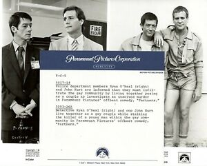 """Partners"" 1982 press kit w/production handbook & 1photo, Ryan O'Neal, John Hurt"