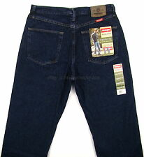 Wrangler Jeans REGULAR FIT New Mens Size 33 x 34 RINSE (Dark Blue) Straight Leg