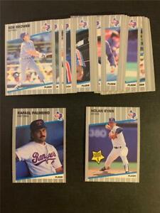 1989 Fleer Texas Rangers Team Set 30 Cards With Update