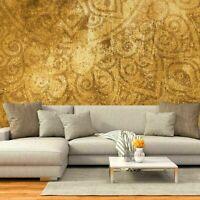 Vlies Fototapete Dekoration Mandala Schlafzimmer WANDBILDER Tapete XXL Gelb