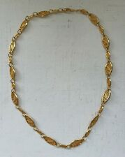 Movitex Signed Filigree Gold Tone Necklace Excellent Condition 18 inches / 46cm.