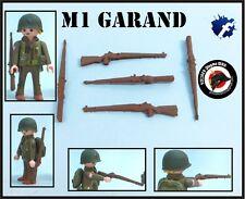 1x M1 GARAND US RIFLE WW2 GUERRA MUNDIAL FUSIL SOLDADOS AMERICANOS PLAYMOBIL