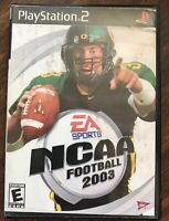 NCAA Football 2003 ps2 PlayStation 2 kids Sports Game Some Marks On Cover